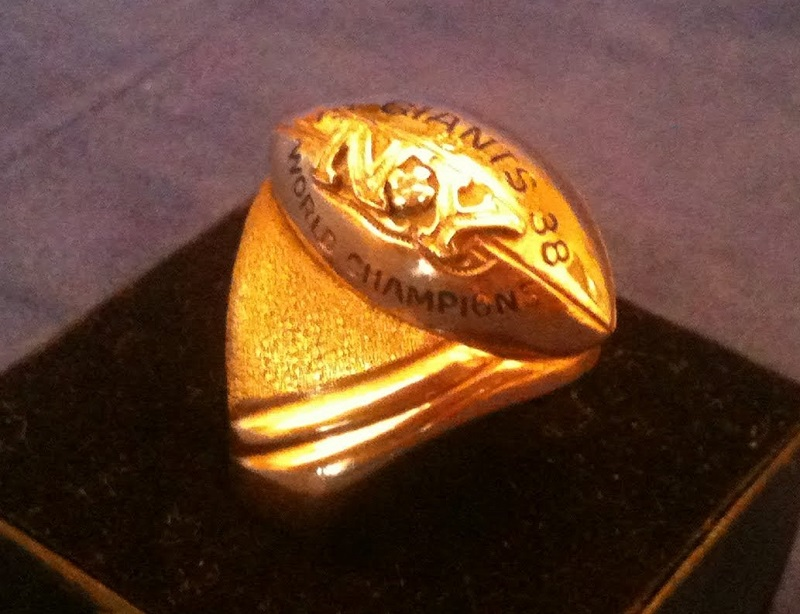 New York Giants 1938 NFL Championship Ring