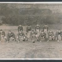 Mel Hein (7), Ward Cuff (14), Ed Danowski (22), Hank Soar (15), 1938 New York Giants