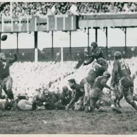 Washington Redskins at New York Giants (December 4, 1938); Mel Hein (#7)