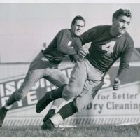Ward Cuff (14), Tuffy Leemans (4), New York Giants (1939)