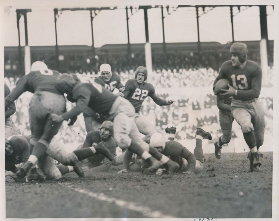 Kink Richards (13), New York Giants (November 26, 1939)