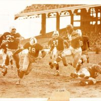 New York Giants at Brooklyn Dodgers (Ward Cuff with the football, New York Giants at Brooklyn Dodgers (November 3, 1940)November 3, 1940)