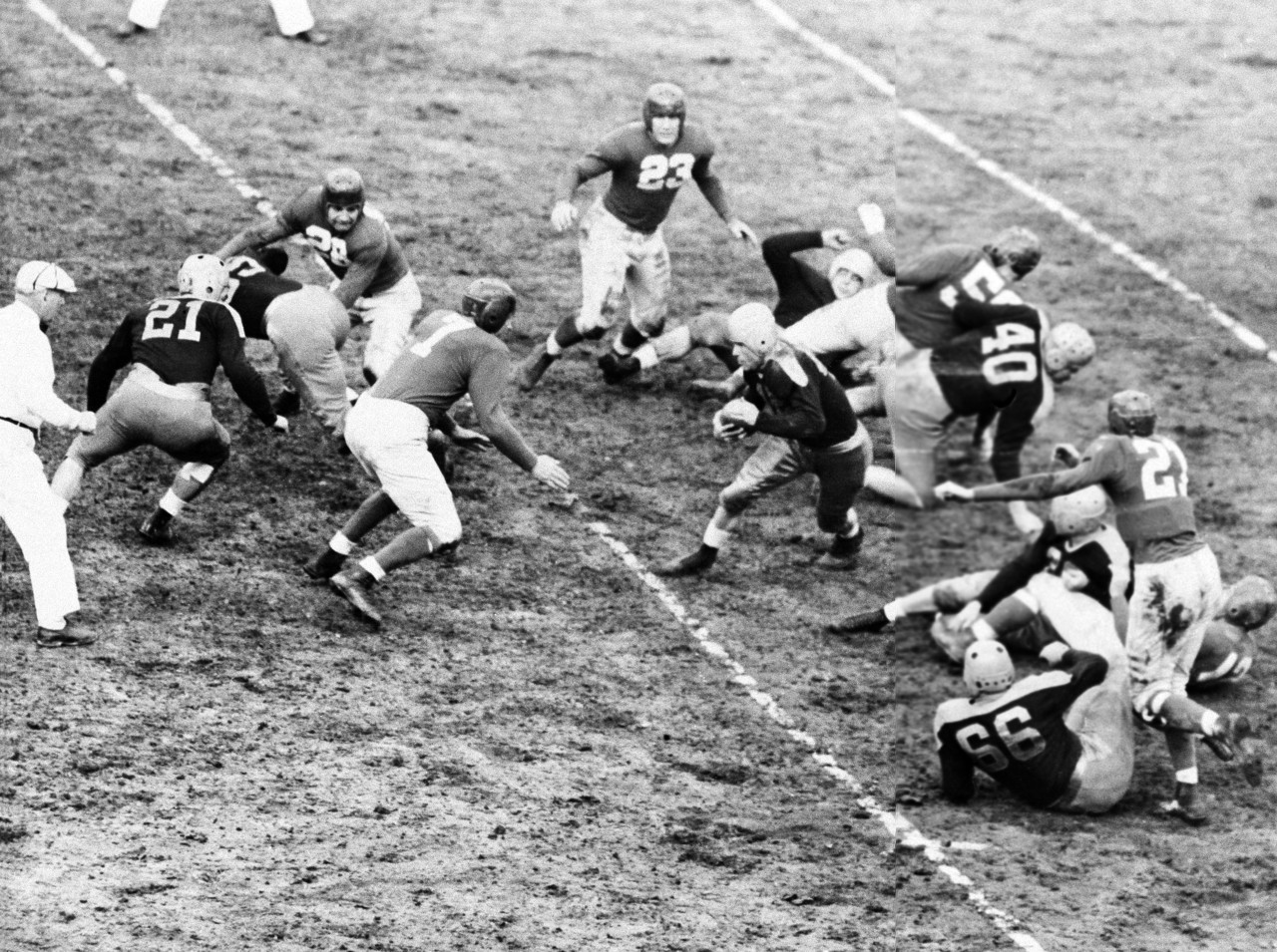Mel Hein (7), Green Bay Packers at New York Giants (November 17, 1940)