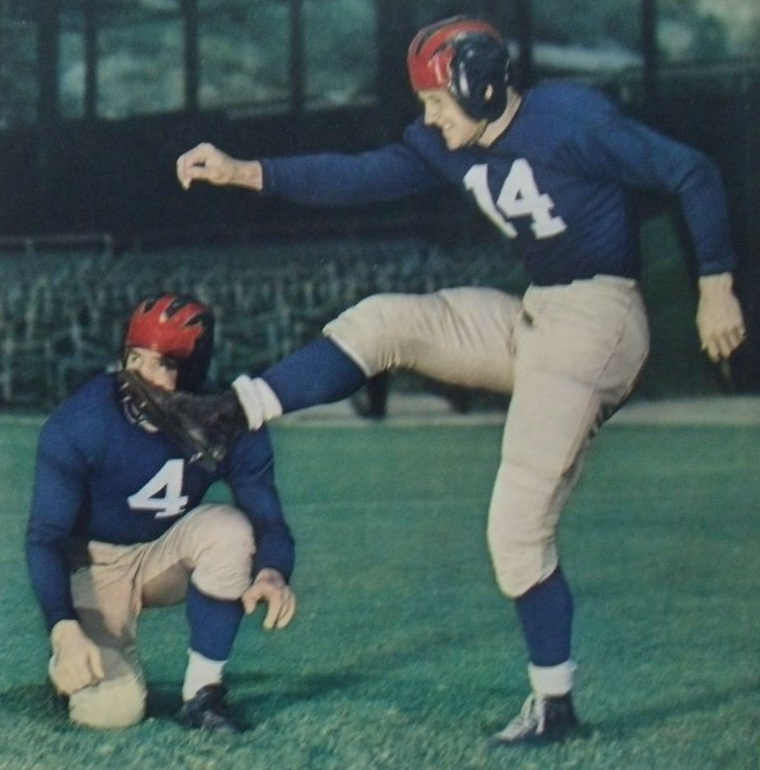 Tuffy Leemans (4) and Ward Cuff (14), New York Giants (1941)
