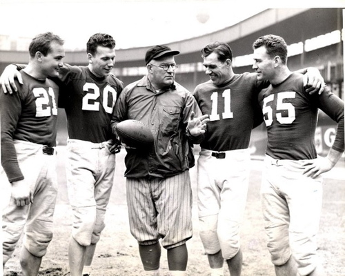 Steve Owen (Middle) at 1941 Pro Bowl