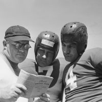 Steve Owen, Mel Hein (7), and Tuffy Leemans (4), New York Giants (1941)