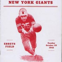 New York Giants - Brooklyn Dodgers Game Program (October 25, 1942)