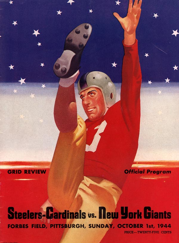 New York Giants vs The Card-Pitt Combine Preseason Game Program (October 1, 1944)
