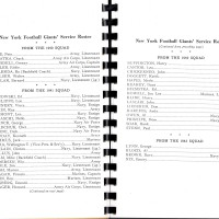 1944 New York Giants Service Roster