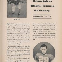 Al Blozis Jack Lumus Memorials New York Giants Game Program November 25 1945