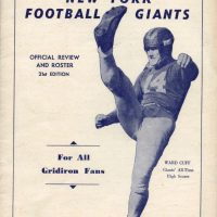 Ward Cuff, New York Giants 1945 Media Guide