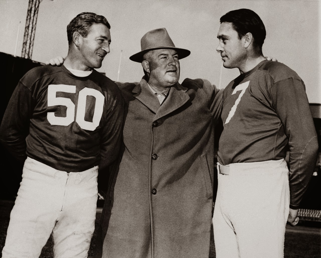 Ken Strong (50), Steve Owen, Mel Hein (7), New York Giants (1945)