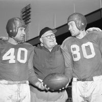 Frank Filchock, Steve Owen, Jim Poole; 1946 New York Giants