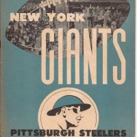 New York Giants Game Program (November 24, 1946)