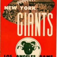 New York Giants-Los Angeles Rams Game Program (December 1, 1946)