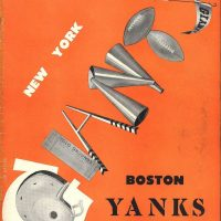 New York Giants - Boston Yanks Game Program (October 19, 1947)