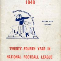 New York Giants 1948 Media Guide