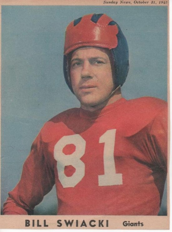 Bill Swiacki, New York Giants (1948)