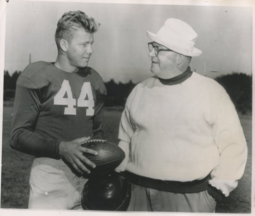 Kyle Rote and Steve Owen in 1951