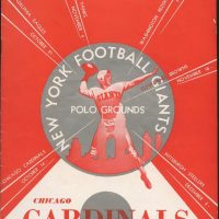 New York Giants - Chicago Cardinals Game Program (October 14, 1951)