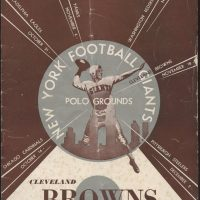 New York Giants Game Program (November 18, 1951)