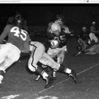 Emlen Tunnell (45), New York Giants at Pittsburgh Steelers (October 1, 1951)