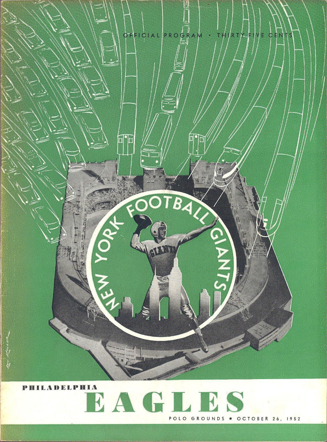 New York Giants - Philadelphia Eagles Game Program (October 26, 1952)