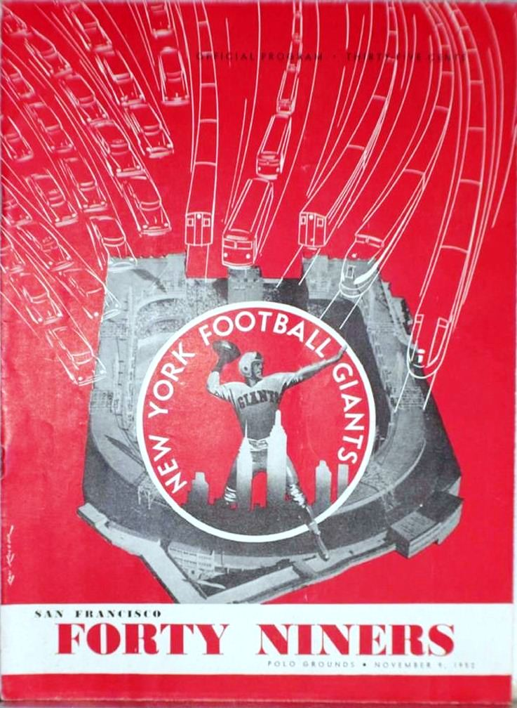 New York Giants - San Francisco 49ers Game Program (November 9, 1952)