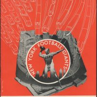 New York Giants - Chicago Cardinals Game Program (October 19, 1952)
