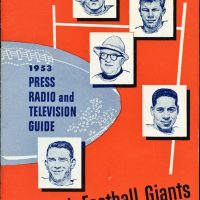 New York Giants 1953 Media Guide