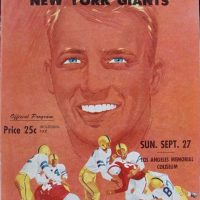New York Giants-Los Angeles Rams Game Program (September 27, 1953)