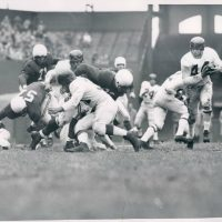 Kyle Rote (with the ball), New York Giants at Chicago Cardinals (November 1, 1953)