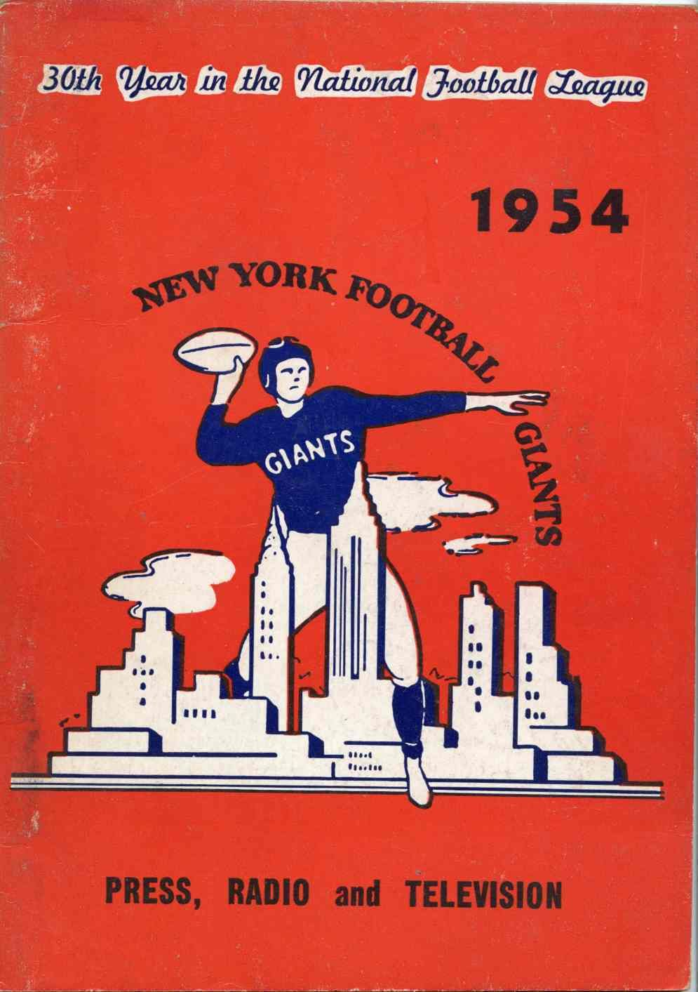 New York Giants 1954 Media Guide