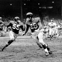 Ray Wietecha (55), Alex Webster (29), New York Giants (November 13, 1955)