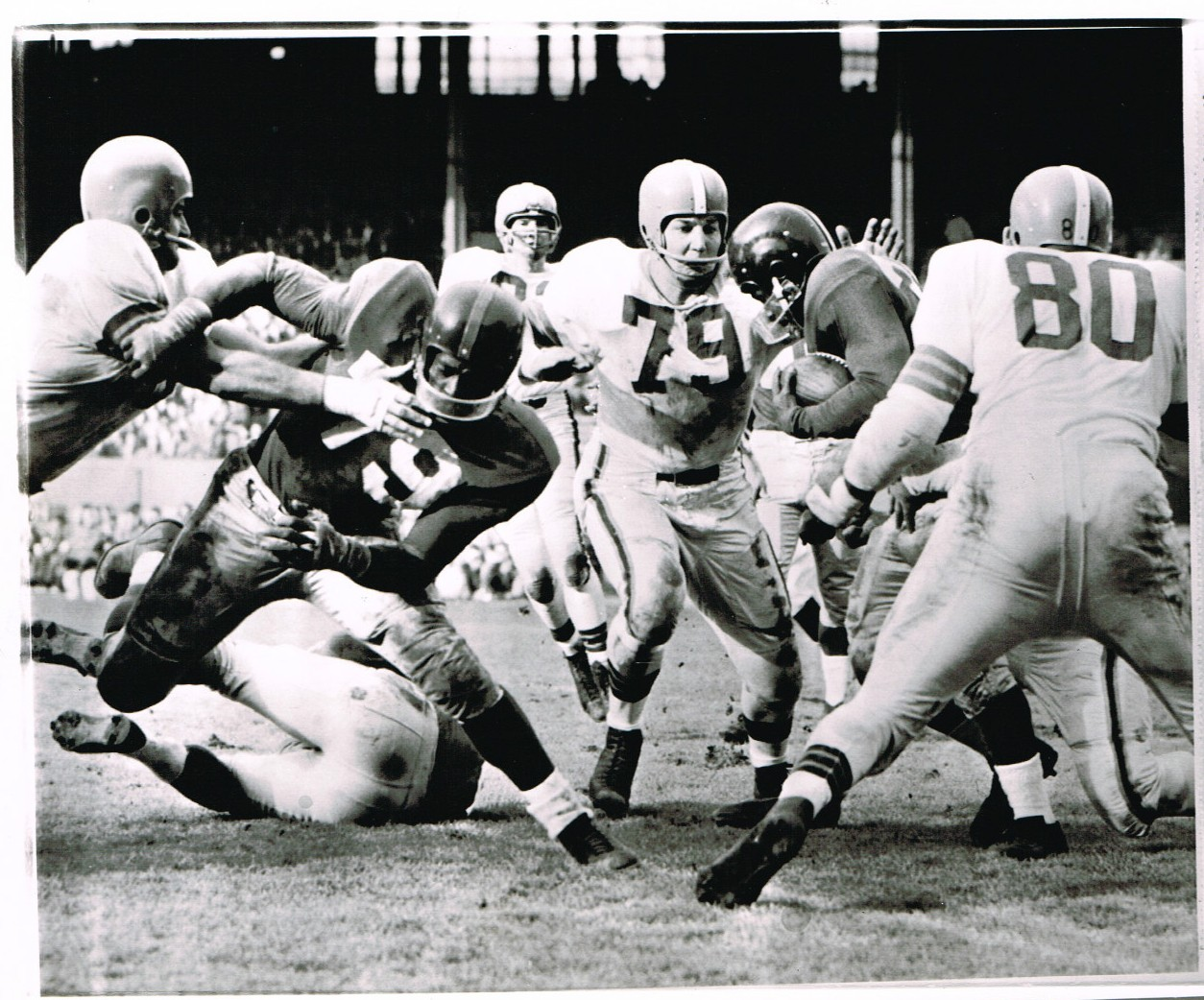 New York Giants at Cleveland Brown (November 6, 1955), Rosey Brown (79)