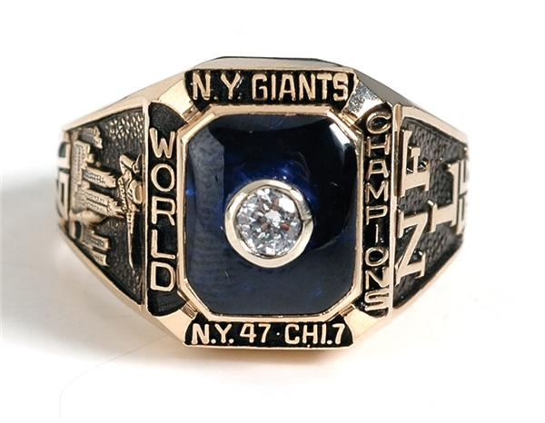 New York Giants 1956 NFL Championship Ring (Ben Agajanian)