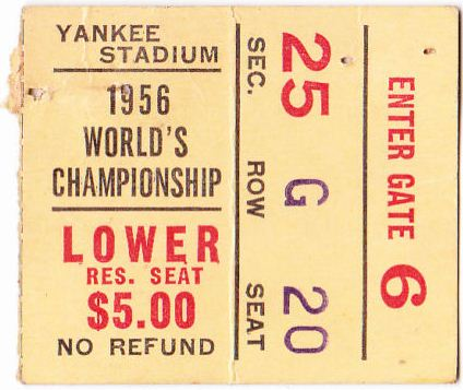 New York Giants - Chicago Bears 1956 NFL Championship Ticket Stub