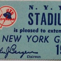 Chicago Bears at New York Giants Stadium Club Ticket November 25 1956