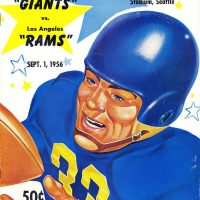 New York Giants-Los Angeles Rams Game Program (September 1, 1956)