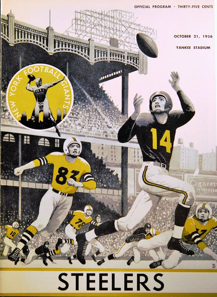 Pittsburgh Steelers at New York Giants Game Program (October 21, 1956)