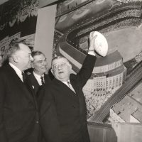 Wellington Mara, George Weiss, Jack Mara, and Bert Bell (January 27, 1956)