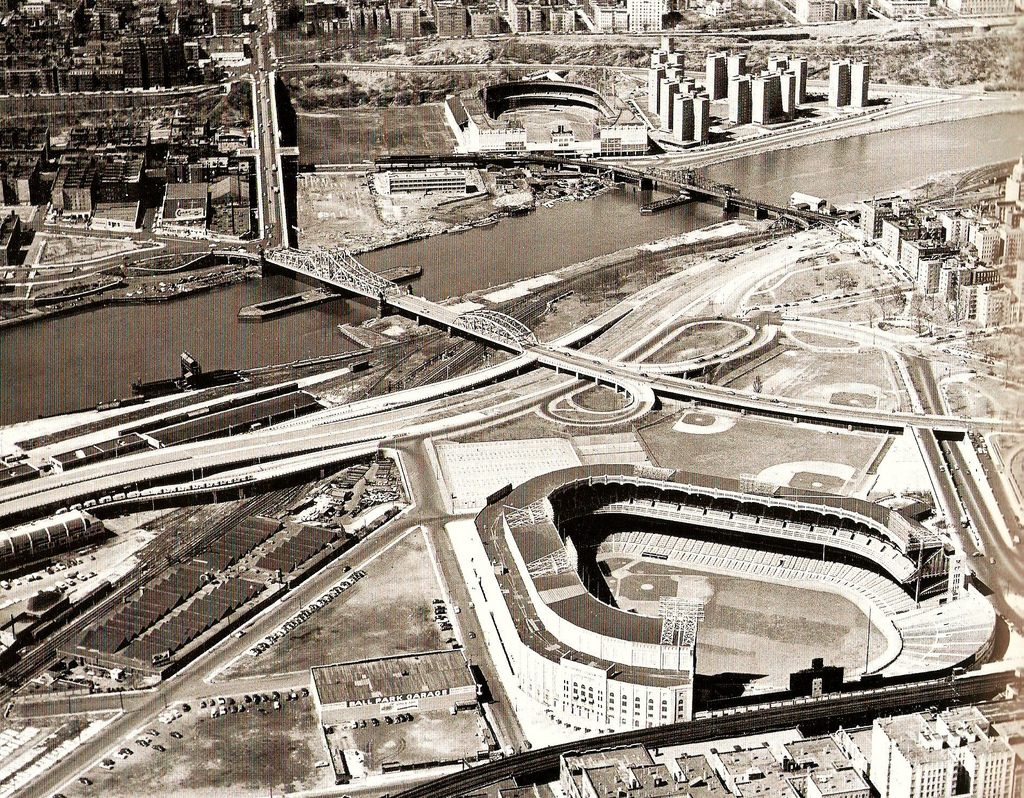 Yankee Stadium and Polo Grounds (circa 1954-57)