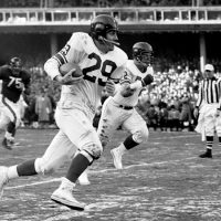 Alex Webster (29), Dick Yelvington (72), 1956 NFL Championship Game
