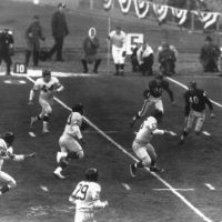 Mel Triplett running for a touchdown; Chicago Bears at New York Giants, December 30, 1956 (1956 NFL Championship)