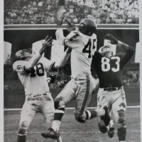Ed Hughes (48), Emlen Tunnell (45), New York Giants (November 24, 1957)