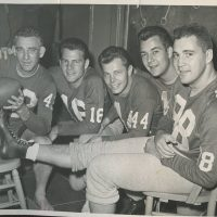 Charlie Conerly (42), Frank Gifford (16), Kyle Rote (44), Don Heinrich (11), Pat Summerall (88), New York Giants (1959)