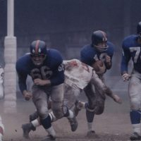 Jack Stroud (66), Frank Gifford (16), Lou Cordileone (74); New York Giants (October 16, 1960)