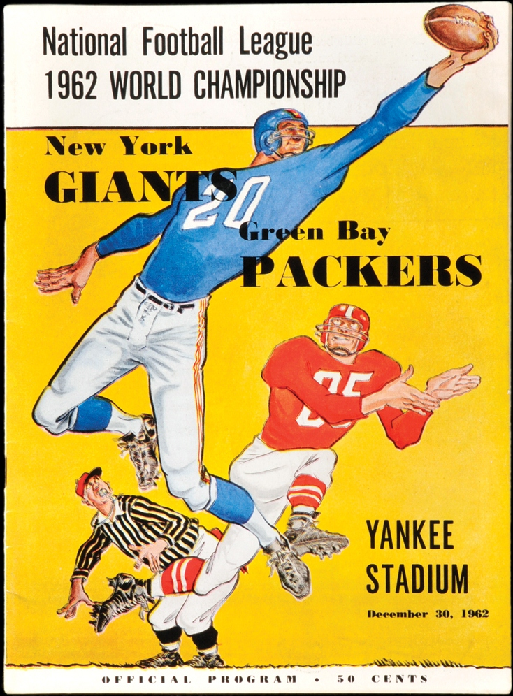 Green Bay Packers at New York Giants, 1962 NFL Championship Game Program (December 30, 1962)