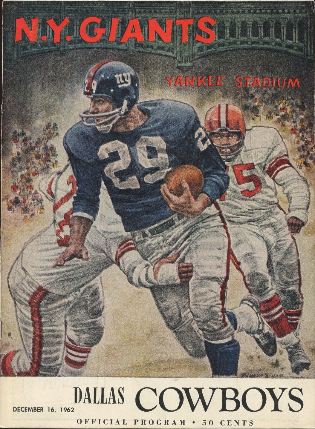 New York Giants Game Program (December 16, 1962)