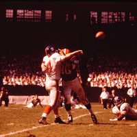 Y.A. Tittle (14), New York Giants at Cleveland Browns (September 16, 1962)